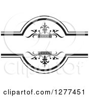 Clipart Of A Black And White Label With Luxury Crowns Royalty Free Vector Illustration by Lal Perera