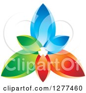 Clipart Of A Colorful Blue Red And Green Petals Design Royalty Free Vector Illustration
