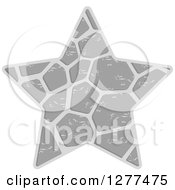 Clipart Of A Grayscale Patterned Star Royalty Free Vector Illustration by Lal Perera