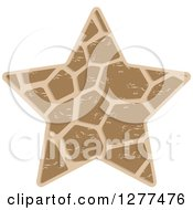 Clipart Of A Brown Patterned Star Royalty Free Vector Illustration by Lal Perera