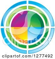 Clipart Of A Colorful Circle Design Royalty Free Vector Illustration by Lal Perera