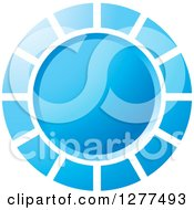 Clipart Of A Blue Circle Design Royalty Free Vector Illustration by Lal Perera