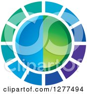 Clipart Of A Blue And Green Circle Design Royalty Free Vector Illustration by Lal Perera