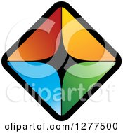 Clipart Of Diamond Of Colorful Triangles Royalty Free Vector Illustration by Lal Perera