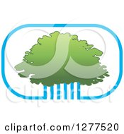 Clipart Of A Blue And Green Tree Canopy Icon Royalty Free Vector Illustration by Lal Perera