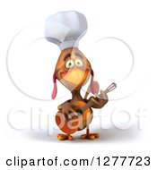 Clipart Of A 3d Chef Chicken Playing A Guitar 6 Royalty Free Illustration by Julos