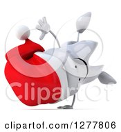 Clipart Of A 3d Happy Christmas Tooth Character Cartwheeling 2 Royalty Free Illustration by Julos