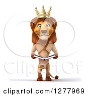 3d Male Lion King Reading A Book