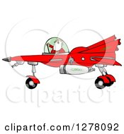 Santa Claus Piloting A Christmas Star Fighter
