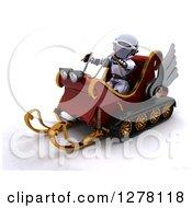 3d Christmas Robot Driving A Sleigh Mobile