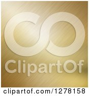 Clipart Of A Brushed Gold Metal Background Royalty Free Illustration