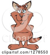Clipart Of A Happy Red Kangaroo Royalty Free Vector Illustration