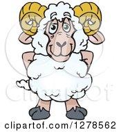 Happy Ram Sheep Standing