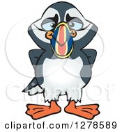 Clipart Of A Happy Puffin Bird Royalty Free Vector Illustration by Dennis Holmes Designs