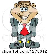 Clipart Of A Happy Smiling Hispanic Business Man Royalty Free Vector Illustration