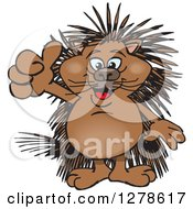 Happy Porcupine Holding A Thumb Up