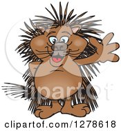 Happy Porcupine Waving