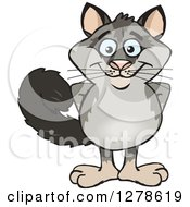 Clipart Of A Happy Possum Royalty Free Vector Illustration
