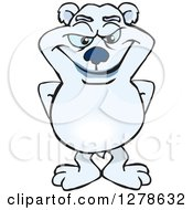 Clipart Of A Polar Bear Standing Royalty Free Vector Illustration by Dennis Holmes Designs