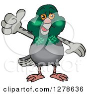 Happy Pigeon Giving A Thumb Up
