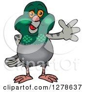 Happy Pigeon Waving
