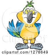 Clipart Of A Blue And Yellow Macaw Parrot Royalty Free Vector Illustration