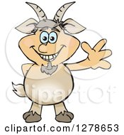 Clipart Of A Happy Pan Waving Royalty Free Vector Illustration by Dennis Holmes Designs
