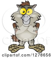 Clipart Of A Happy Owl Royalty Free Vector Illustration by Dennis Holmes Designs