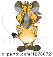 Clipart Of A Hyena Standing Royalty Free Vector Illustration