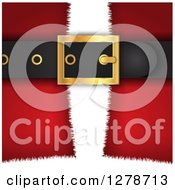 Clipart Of A Closeup Of Santa Suits Belt Buckle Royalty Free Vector Illustration by KJ Pargeter