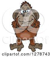 Happy Orangutan Standing