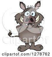 Happy Boar Standing