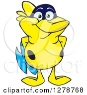 Clipart Of A Happy Yellow Marine Fish Royalty Free Vector Illustration by Dennis Holmes Designs