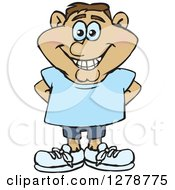 Clipart Of A Happy Smiling Casual Hispanic Man Royalty Free Vector Illustration