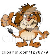 Happy Male Lion Holding A Thumb Up