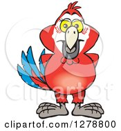 Clipart Of A Happy Scarlet Macaw Parrot Royalty Free Vector Illustration by Dennis Holmes Designs