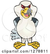 Clipart Of A Kite Bird Royalty Free Vector Illustration