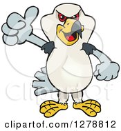 Clipart Of A Kite Bird Holding A Thumb Up Royalty Free Vector Illustration by Dennis Holmes Designs