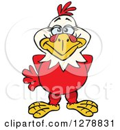 Clipart Of A Happy Hen Royalty Free Vector Illustration by Dennis Holmes Designs