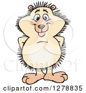 Clipart Of A Happy Hedgehog Royalty Free Vector Illustration