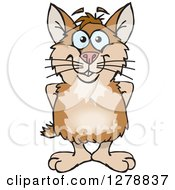 Clipart Of A Happy Hamster Royalty Free Vector Illustration by Dennis Holmes Designs