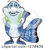 Clipart Of A Happy Guppy Fish Royalty Free Vector Illustration by Dennis Holmes Designs