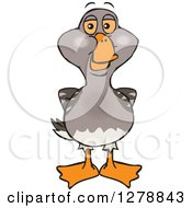 Clipart Of A Happy Goose Royalty Free Vector Illustration by Dennis Holmes Designs