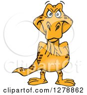 Clipart Of A Happy Goanna Lizard Royalty Free Vector Illustration by Dennis Holmes Designs