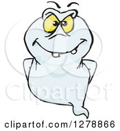 Clipart Of A Ghost Flying Royalty Free Vector Illustration by Dennis Holmes Designs