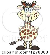 Clipart Of A Happy Giraffe Royalty Free Vector Illustration by Dennis Holmes Designs