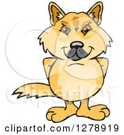 Clipart Of A Dingo Standing Royalty Free Vector Illustration