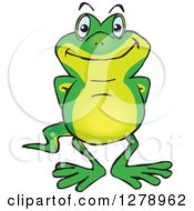 Clipart Of A Happy Gecko Royalty Free Vector Illustration by Dennis Holmes Designs