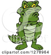 Clipart Of A Happy Alligator Royalty Free Vector Illustration