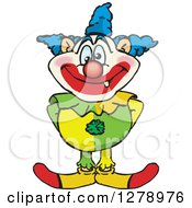 Clipart Of A Happy Clown Standing Royalty Free Vector Illustration by Dennis Holmes Designs
